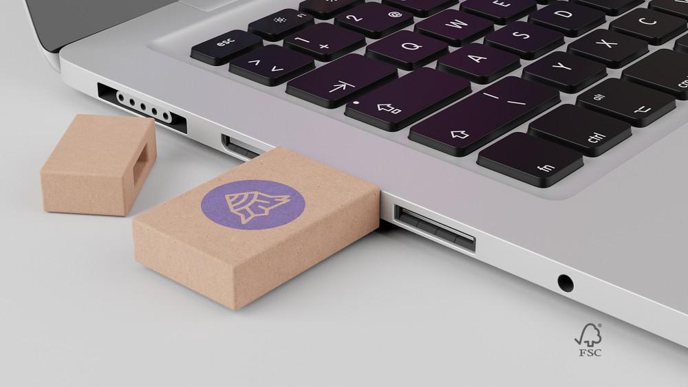 Genbrugspap usb key med logo