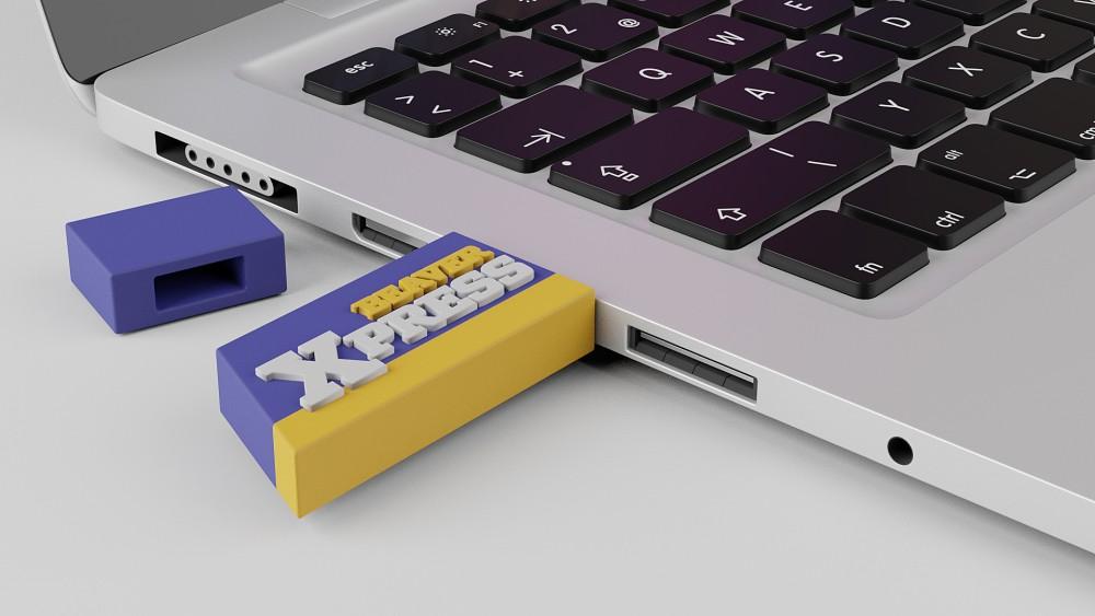 USB key støbt som logo